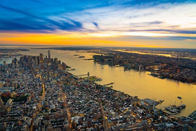 Vista aerea de Manhattan